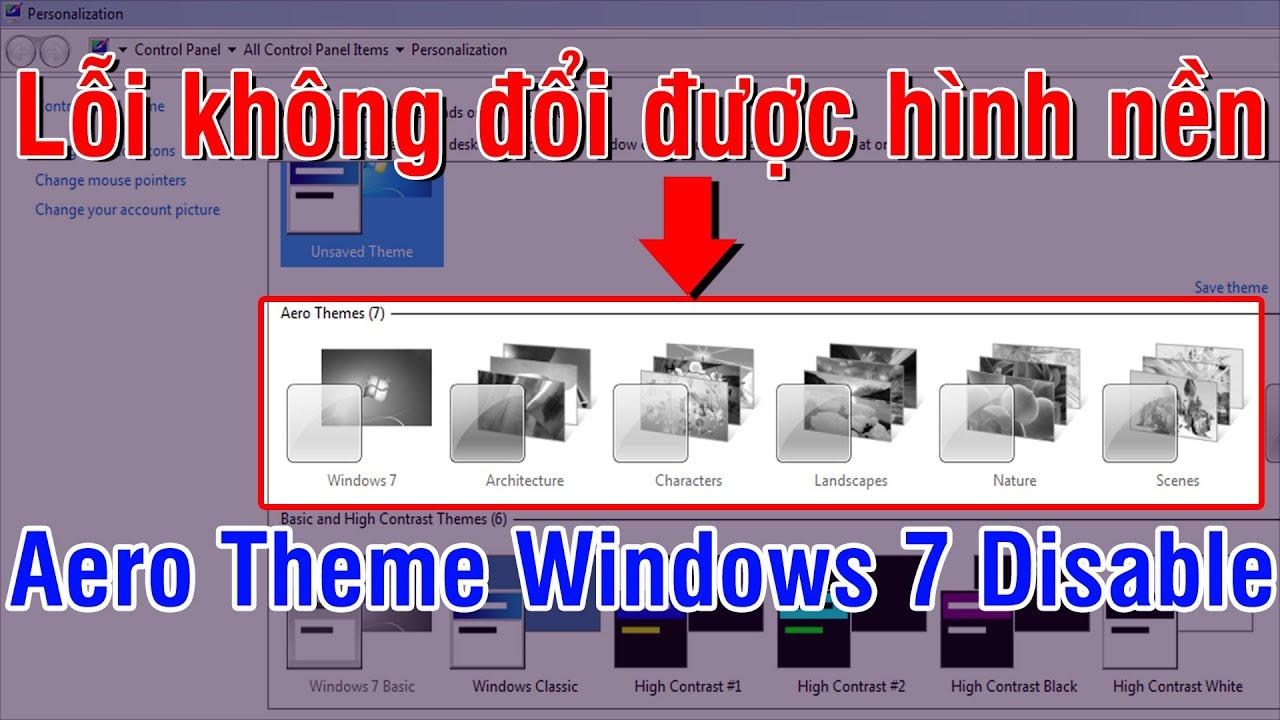 tại sao không đổi được hình nền desktop win 7
